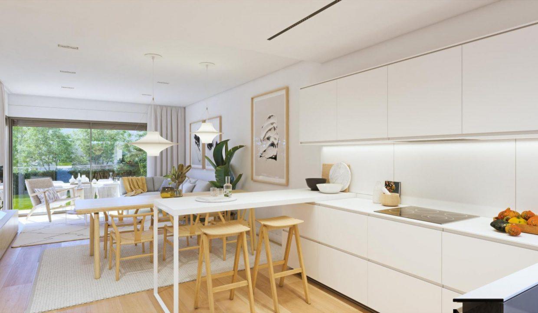 Salón-cocina adosado duplex