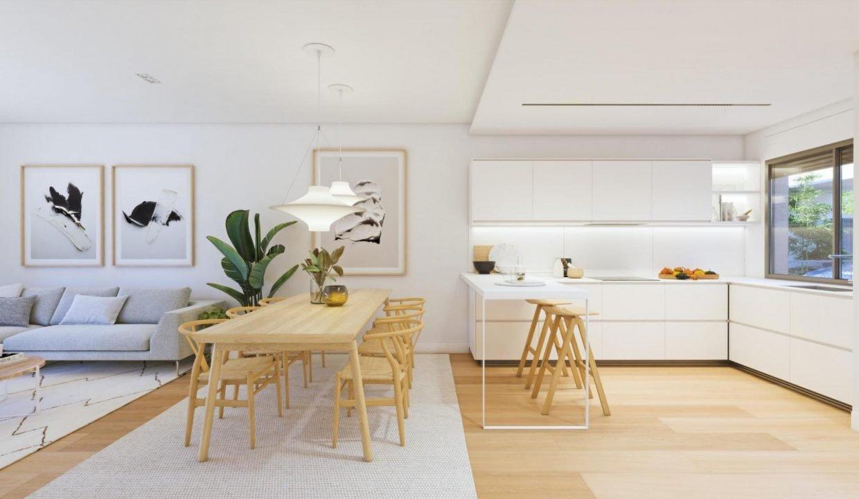 Salón comedor cocina adosado duplex