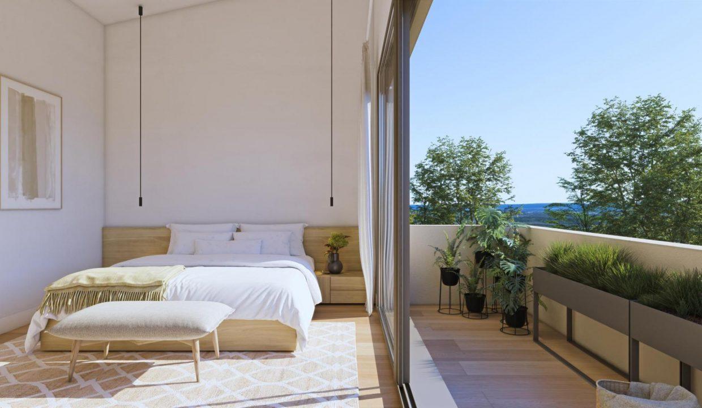 dorm ppal y terraza adosado duplex