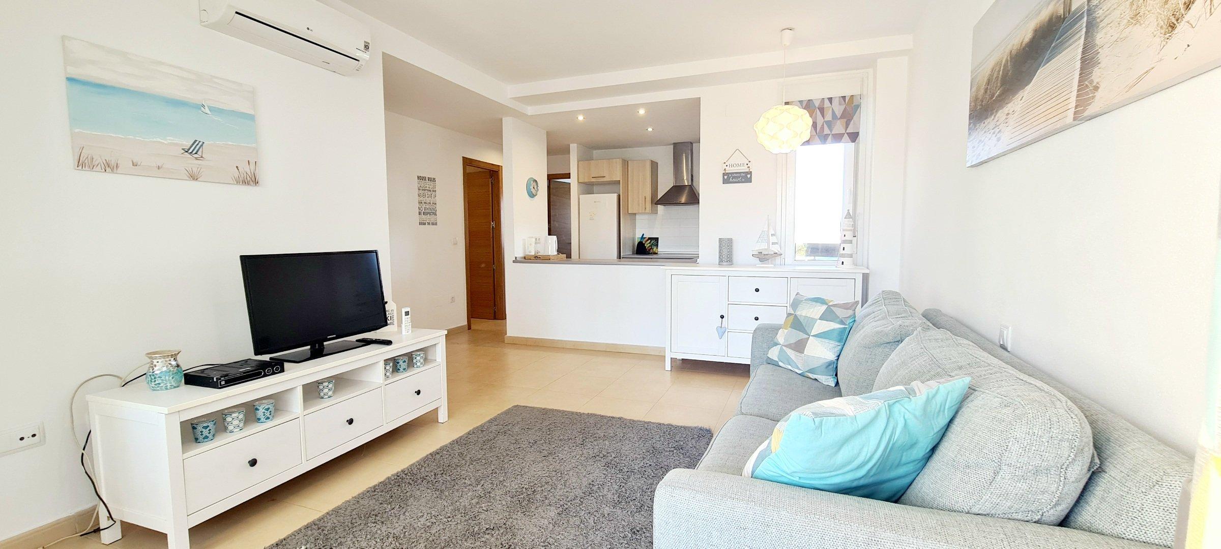2 Bed 1 Bath – South Facing Ground Floor Apartment – Terrazas De La Torre Golf Resort – Murcia