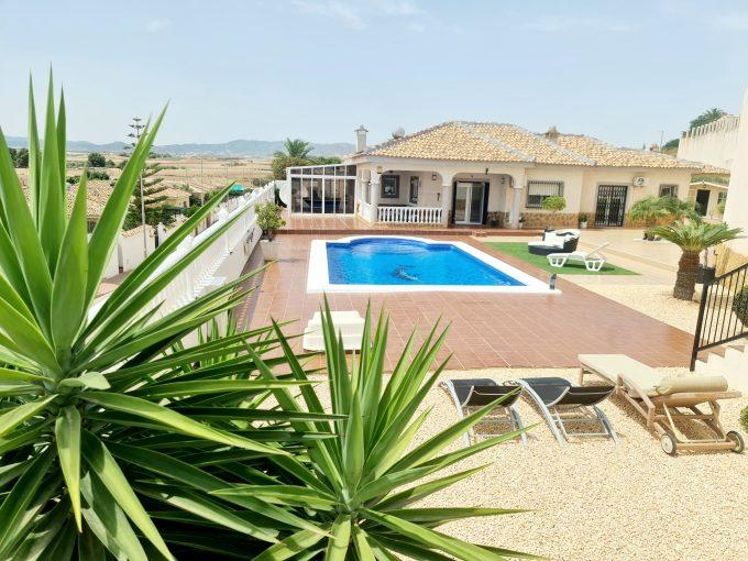 Fantastic 4 Bedroom 2 Bathroom Detached Villa on Large Plot with Private Pool. Urbanisation Lo Santiago  – Murcia